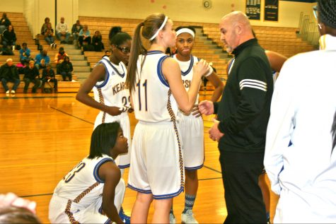 Girls basketball wins its first game in the league