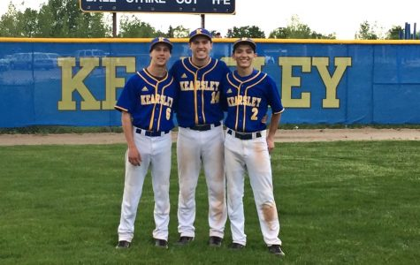 Baseball splits with Clio, honors seniors