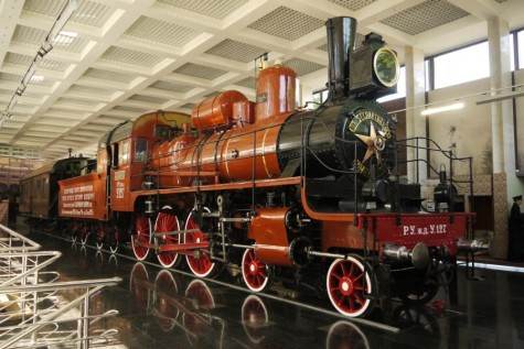 Locomotive engineers drive and maintain trains. This one is at the Museum of the Moscow Railway at Paveletsky Rail Terminal.