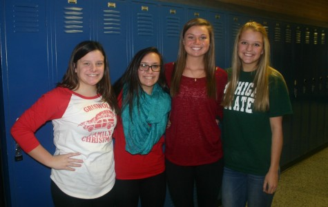 Students participate in red and green day