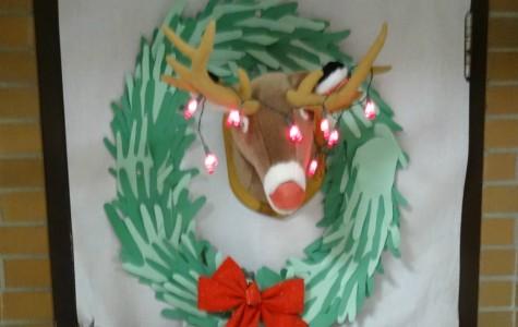 Mrs. Graham sports a trophy buck — Rudolph