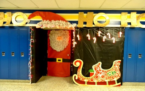 Mrs. Wilcox uses up some space for her door