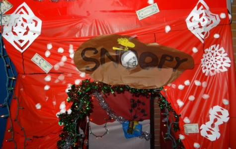 Mr. Whalen's students learn in Snoopy's dog house
