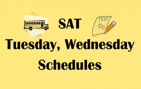 SAT testing, student schedules vary on Tuesday, Wednesday