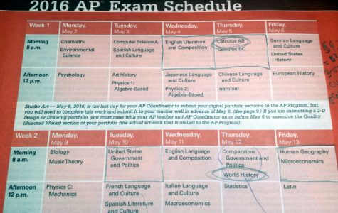 AP testing takes place in May