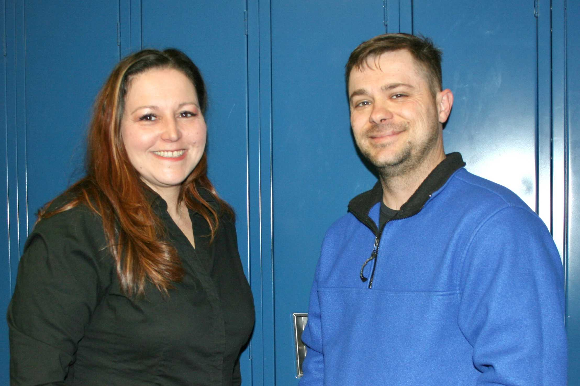 Mrs. LeeAnne Walters and her husband, Mr. Dennis Walters, visited the locker they shared while in high school when they stopped by KHS for an interview in May.