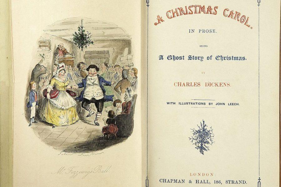 This+first+edition+of+Charles+Dickens%27+%22A+Christmas+Carol%22+was+published+in+1843.