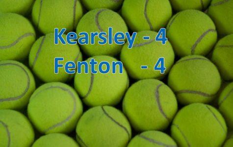 Tennis team ties with Fenton
