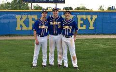 Baseball splits with Clio, honors seniors