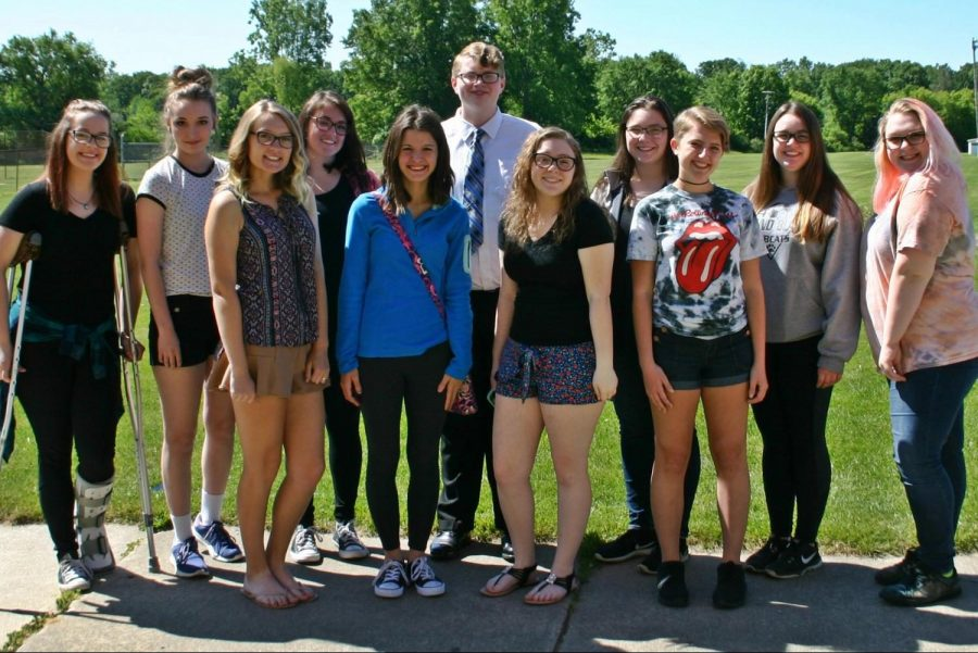 The Eclipse staff bids farewell under the sun before the 2017-18 school year ends.