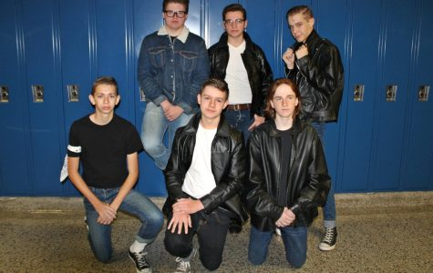 Boys group together as greasers from 'The Outsiders'
