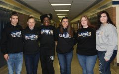 Seniors wear their class gear on blue and gold day