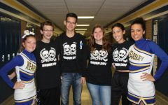 Band members, cheerleaders express their school spirit