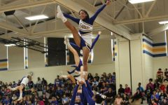 Cheerleaders pep up KHS with a stunt