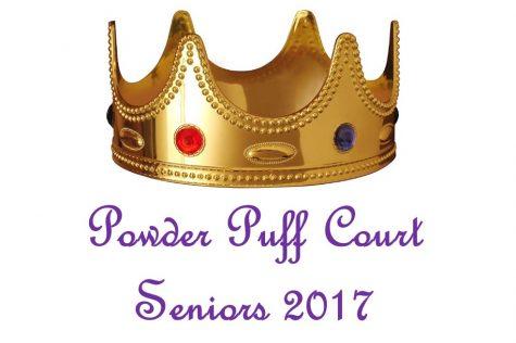 Senior powder puff court enjoys final Homecoming
