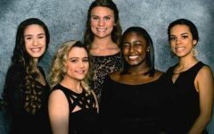 Enthusiastic seniors make up the 2017 queen's court