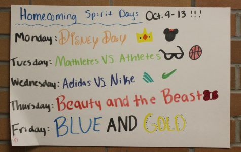 Homecoming spirit days begin next week