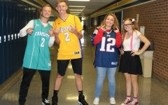 Some students flaunt their sports jerseys, some dress nerdy