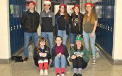 Christmas hats, socks make school merry and bright