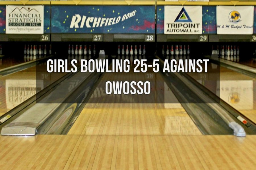 The girls bowling team beat the Owosso Trojans on Monday, Dec. 4 in their first match with Owosso after joining the Metro League.