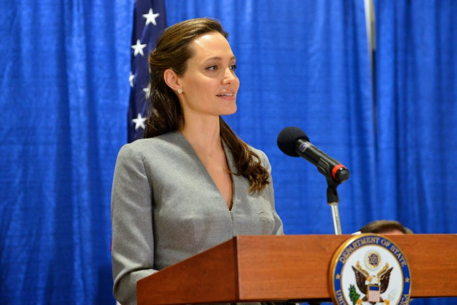 Angelina Jolie speaks at an interfaith Iftar reception for World Refugee Day.
