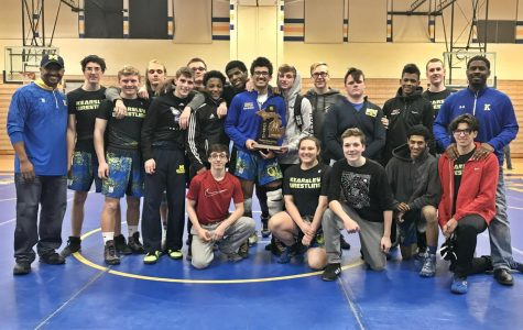 Wrestling wins third district title in a row