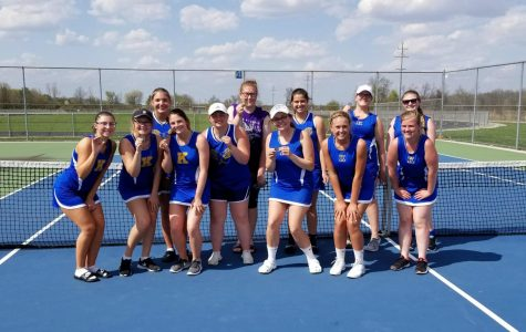 Tennis finishes third at Owosso Quad