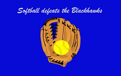 Softball defeats Blackhawks, ties for third in league
