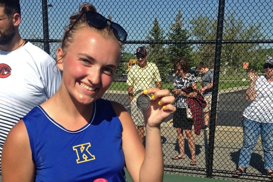 Junior Chloe Clarambeau earned second team All-League honors at the Metro league tennis tournament Wednesday, May 23.
