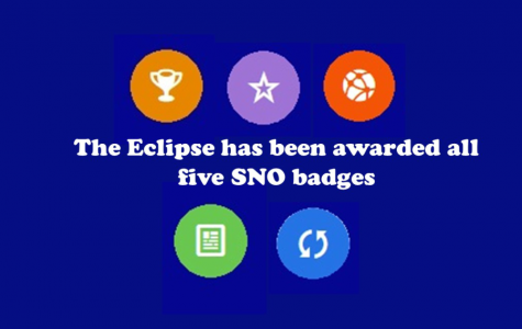 The Eclipse pins five SNO badges