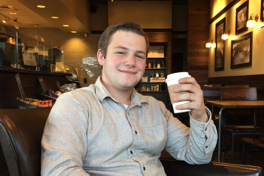 Senior Nick Williams enjoys going to Starbucks for his favorite drink -- a caffè mocha.