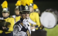 Gronauer leads band during halftime show