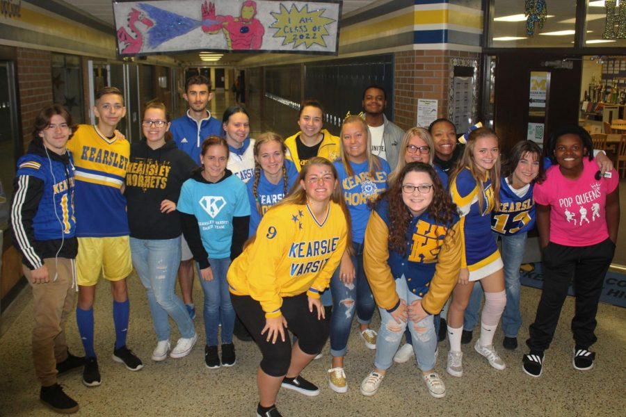 KHS+staff+and+students+show+school+spirit+for+Blue+and+Gold+Day+on+Friday%2C+Oct.+5.