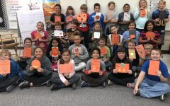 Hunt's classes make Halloween cards for fourth-graders