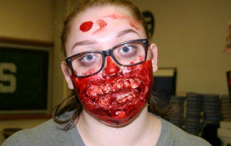 Harroun scares classmates with gory mouth