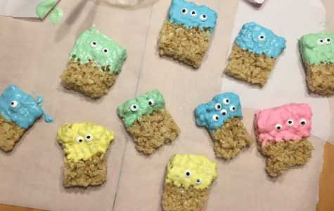 Rice Krispies monster treats are easy to create