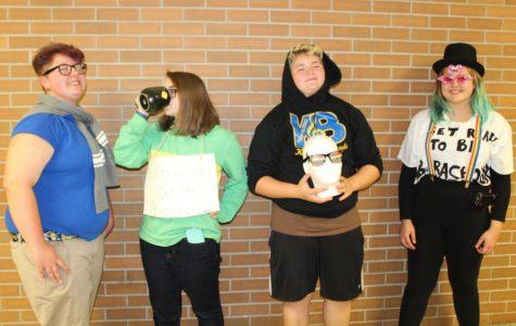 Sophomores get goofy showing off school spirit