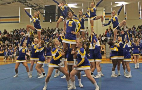 Cheer stunts into homecoming