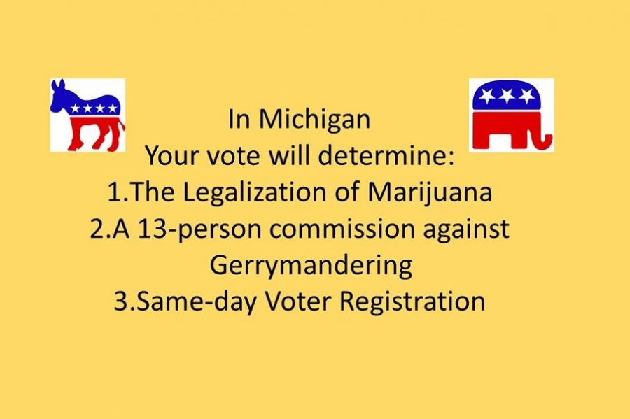 The 2018 Michigan general election has three proposals on the ballot.