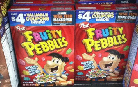 Pebbles cereal rocks for breakfast