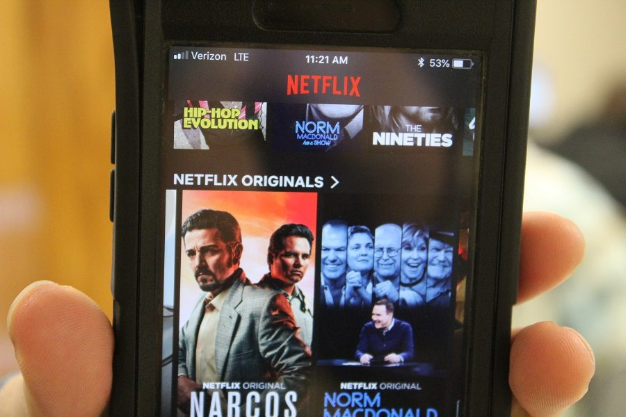 The popular streaming service Netflix allows users to take their favorite shows anywhere, even on the go.