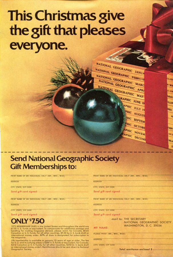 Businesses have been spinning advertisements to match the holidays for years, like this National Geographic subscription.