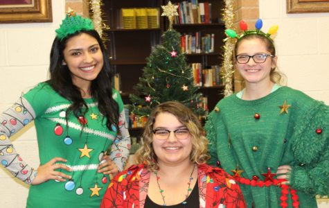 Students light up the halls with their Christmas spirit