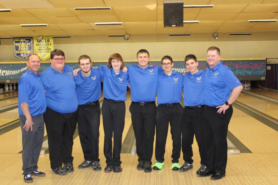 The boys bowling team dropped its first match of the season against Owosso on Wednesday, Dec. 19.