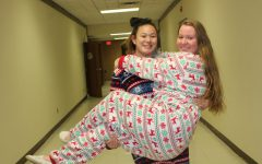 Swanson, Bouchard enjoy pajama day