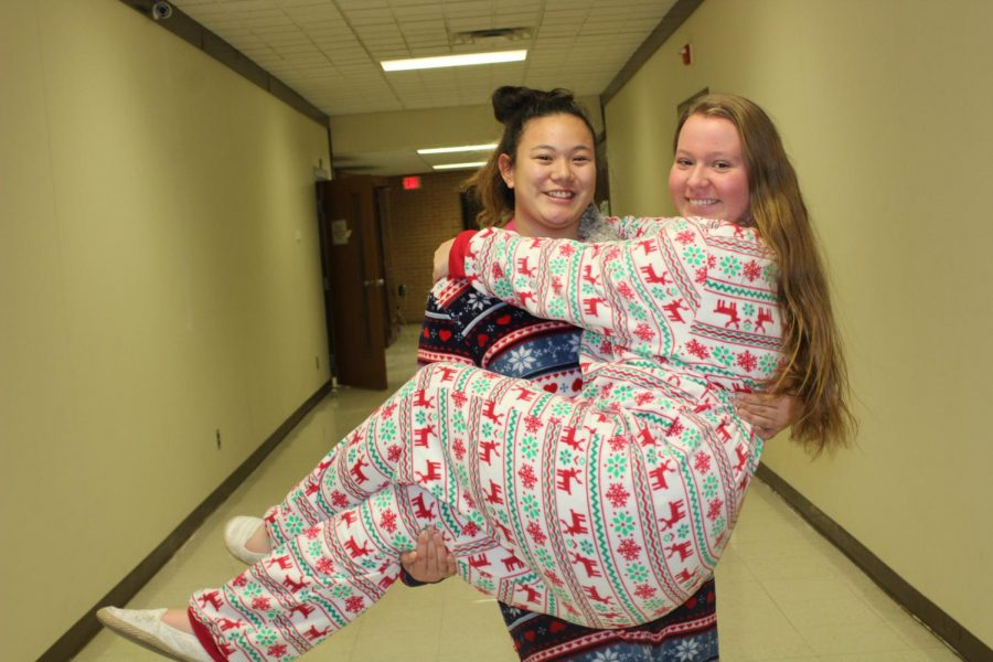 Swanson, Bouchard enjoy pajama day