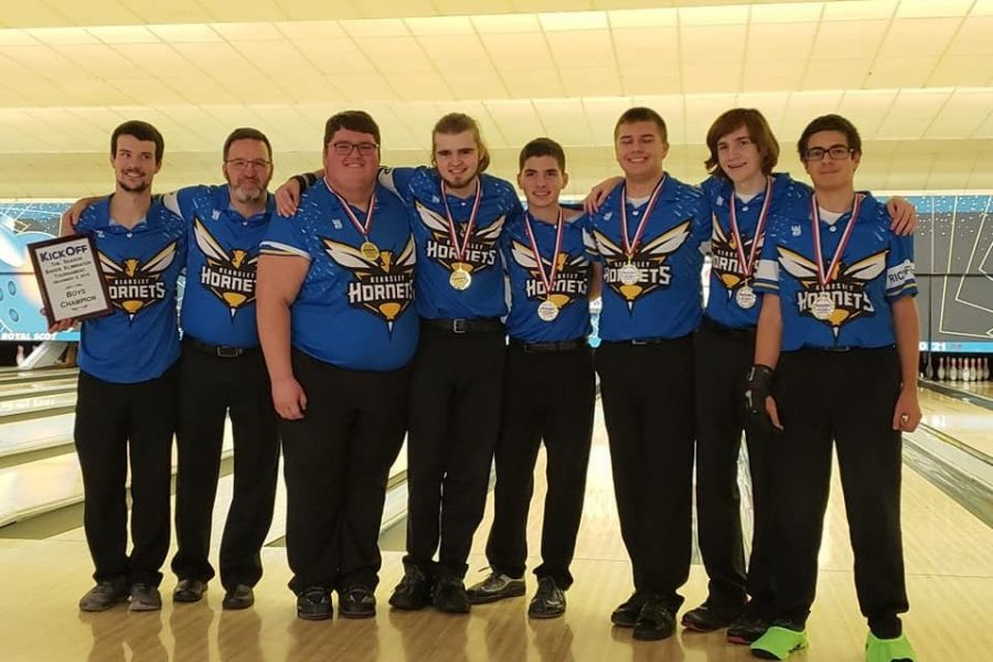 The boys bowling team won both of its matches on Saturday, Dec. 1, and won the Baker Eliminator Invitational the next day.