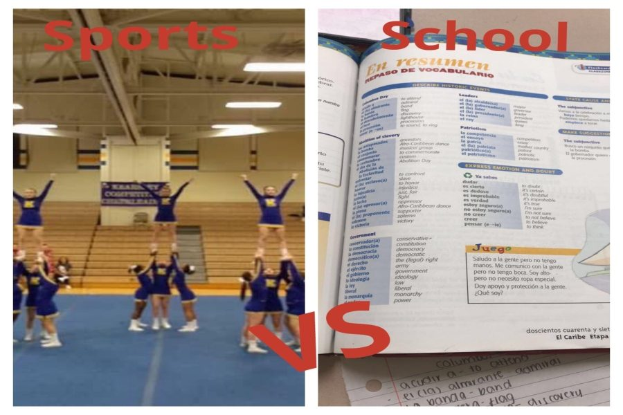 Participating+in+sports+while+still+completing++schoolwork+can+be+challenging+for+students+at+KHS.