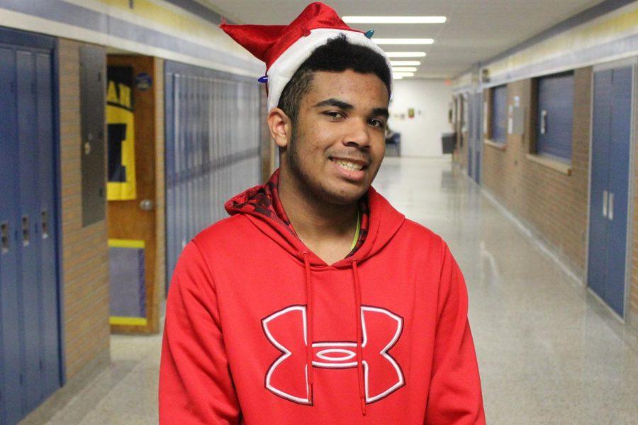 Hanson brings spirit to KHS with festive Santa hat