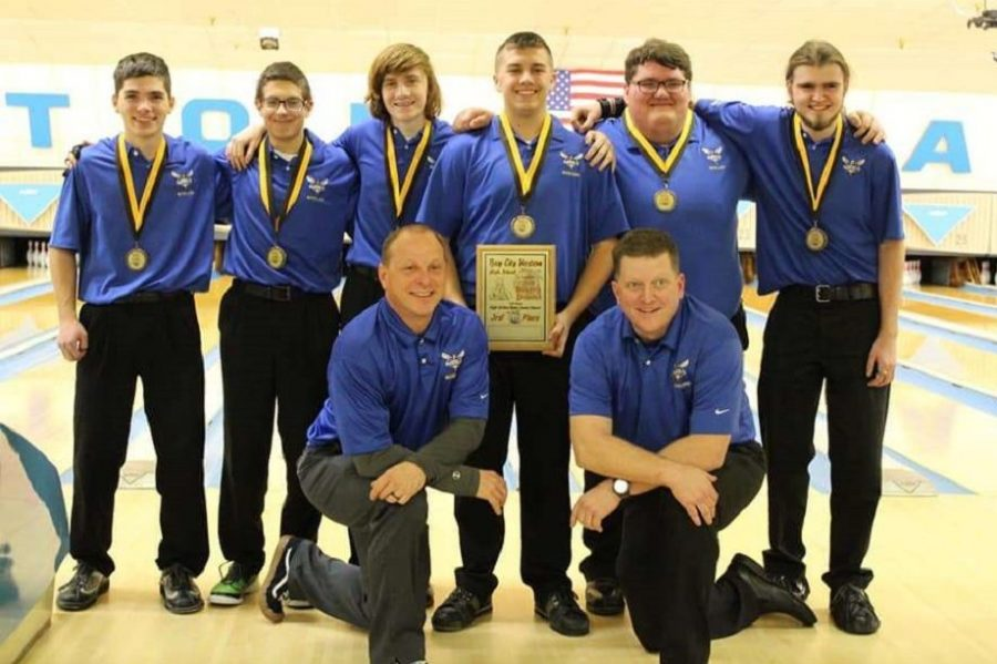 The boys bowling team finished third place at Bay City Western Baker's Dozen event, Sunday, Dec. 16.